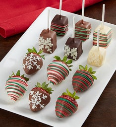 Holiday Cheer Berries and Cheesecake Pops