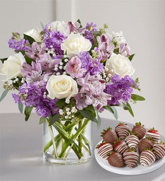 Lovely Lavender Medley with Strawberries