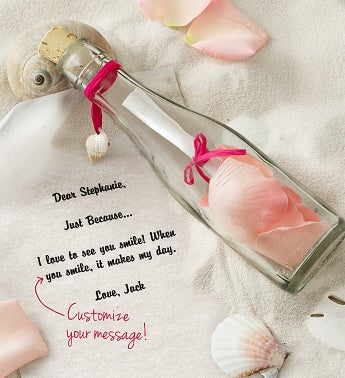 Personalized Message in a Bottle Just Because