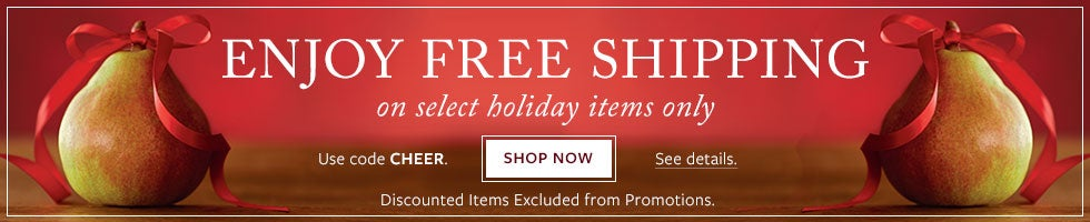 FREE SHIPPING on select holiday gifts. Use code CHEER. See details. SHOP NOW