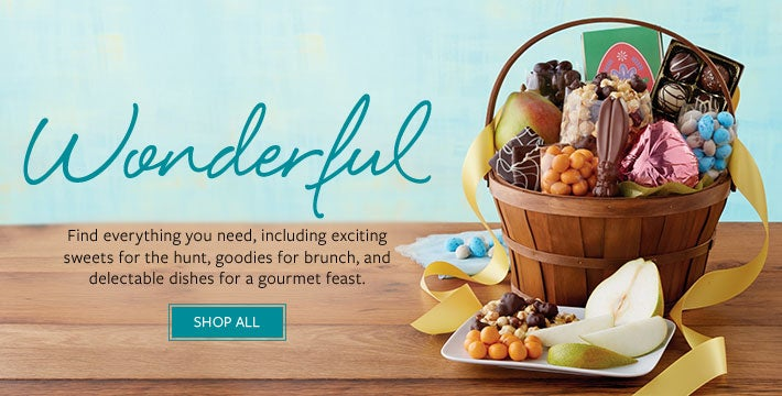 Easter. Find everything you need, including exciting sweets for the hunt, goodies for brunch, and delectable dishes for a gourmet feast. SHOP ALL