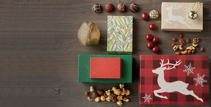 GIFTS FOR THE SEASON OF SHARING. Send tidings of good cheer with bountiful gift baskets and towers full of sweets and treats for the holidays. SHOP ALL