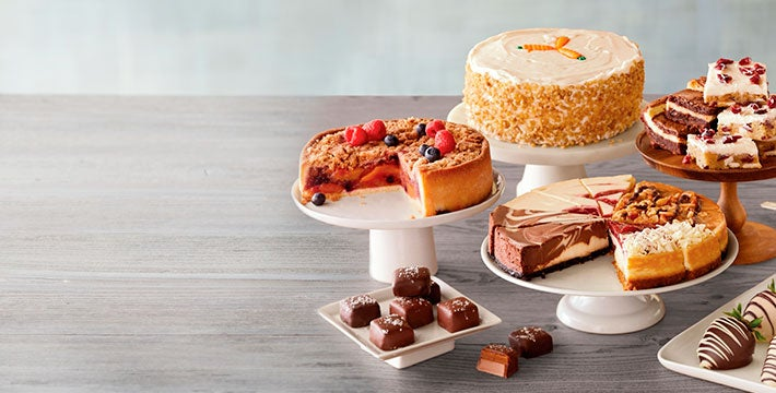 MAKE ROOM FOR DESSERT. Go ahead, indulge in the sweeter things with expertly crafted gourmet desserts. SHOP ALL