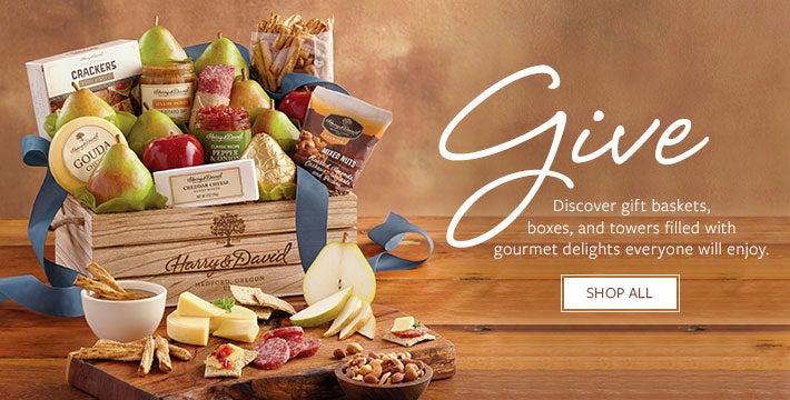 Give. Discover gift baskets, boxes, and towers filled with gourmet delights everyone will enjoy. SHOP ALL .