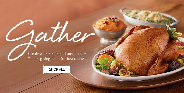 CREATE AN UNFORGETTABLE THANKSGIVING Discover everything you need to host a delicious and memorable Thanksgiving dinner with ease. SHOP ALL