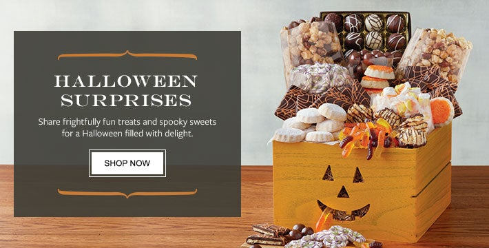 HALLOWEEN SURPRISES. Share frightfully fun treats and spooky sweets for a Halloween filled with delight.   Shop Now.