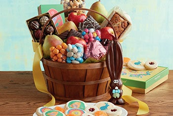 Share wonderful Easter gift baskets and towers