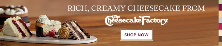Enjoy an assortment of cheesecakes from The Cheesecake Factory®. SHOP ALL