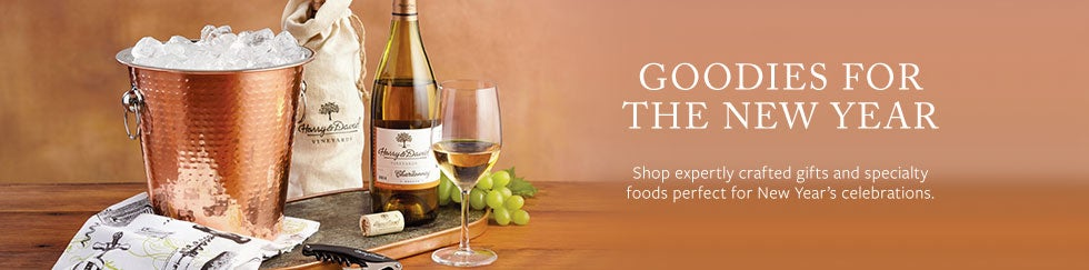 Goodies for the new Year.  Shop expertly crafted gifts and specialty foods perfect for New's celebrations.
