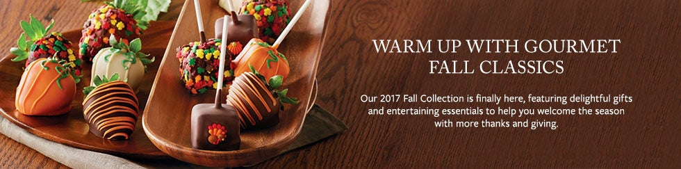 WARM UP WITH GOURMET FALL CLASSICS Our 2017 Fall Collection is finally here, featuring delightful gifts and entertaining essentials to help you welcome the season with more thanks and giving.