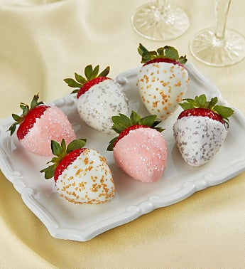 Champagne Chocolate-Covered Strawberries – 6 Count