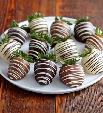 Belgian Double-Dipped Chocolate-Covered Strawberries - 12 pieces