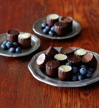 Chocolate-Covered Blueberry Cups
