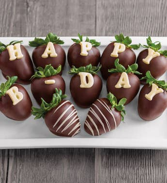 Birthday Chocolate Covered Strawberries SnipeImage