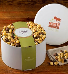 Thank You Moose Munch® Gourmet Popcorn Tin