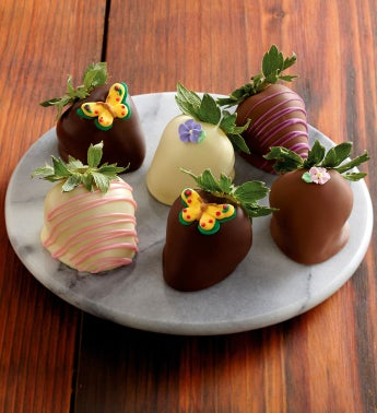 Butterfly Chocolate-Covered Strawberries - Half Dozen