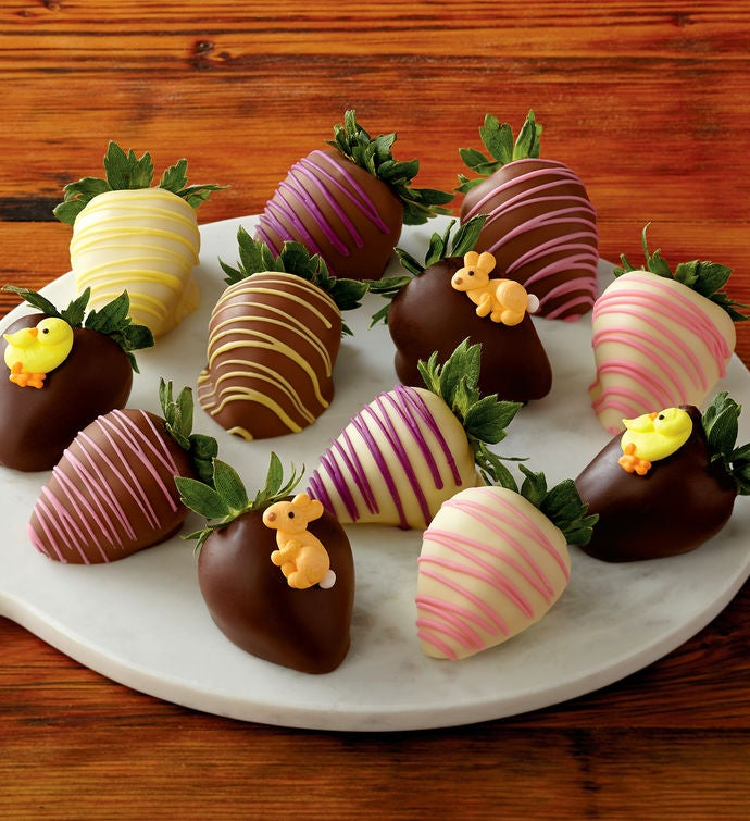 Easter chocolate covered strawberries one dozen chocolate gifts negle Gallery