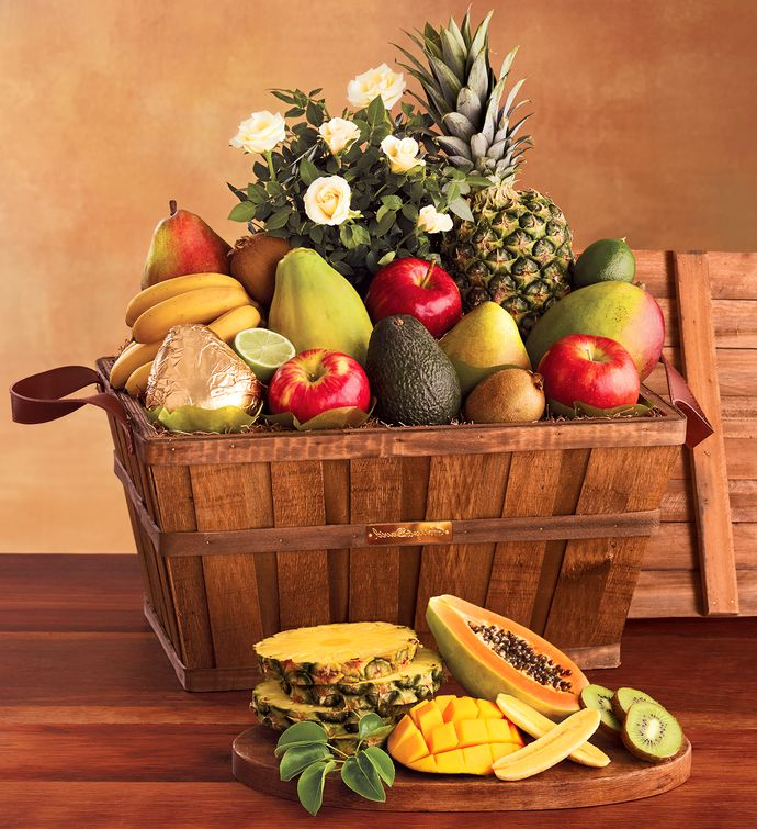 Flowers and fruit gift basket fruit baskets harry david flowers and fruit gift basket negle Gallery
