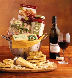 Cucina D'Italia Colander Gift with Wine