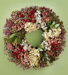 Zinnia Hydrangea Mother's Day Wreath
