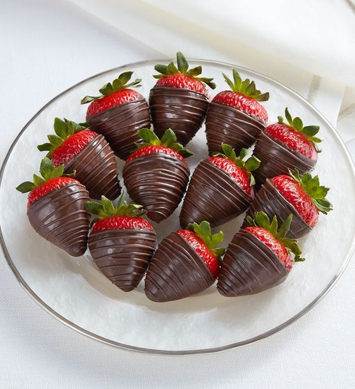 Dark Chocolate-Covered Strawberries – 12 Count