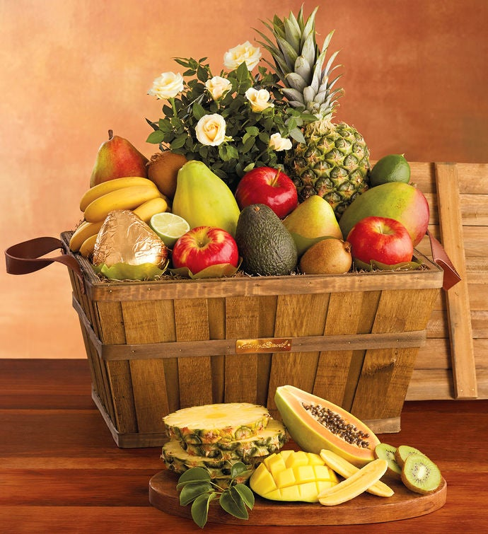Fruit Flower Baskets Saskatoon : Flowers and fruit gift basket at harry david