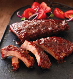 Stock Yards® Precooked Baby Back Pork Ribs–Four 14-Ounce Half Slabs