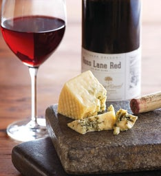 Rogue Creamery® Crater Lake Blue® Cheese and Harry & David™ Ross Lane Red Blend