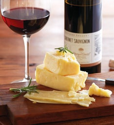 Grafton White Cheddar Cheese and Harry & David 2012 Cabernet Sauvignon
