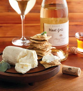 Laura Chenel39s Honey Goat Cheese and Harry  Davidtrade Pinot Gris