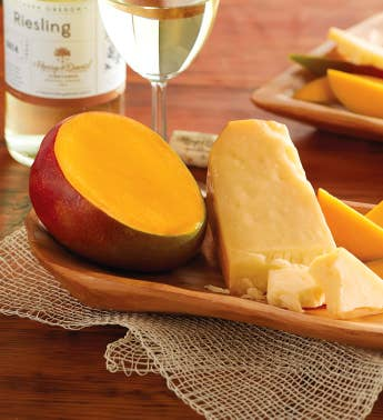 Mango San Joaquin Gold Cheese and Harry  Davidtrade Riesling