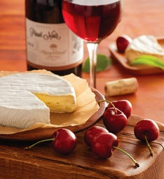Cherry-Oh!® Cherries, Brie, and Harry & David™ Pinot Noir