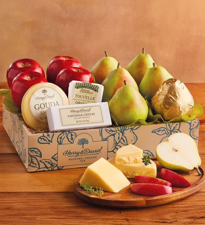 deluxe pears apples and cheese gift cheese gifts harry david
