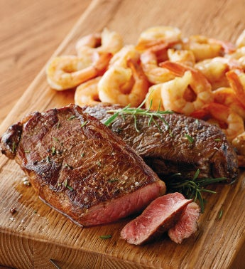 Stock Yards® New York Steak and Shrimp - Four Each