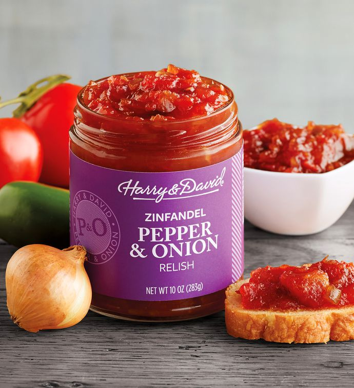 Pepper and Onion Relish with Zinfandel