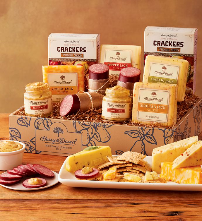 Grand sausage and cheese gift box harry david negle Image collections