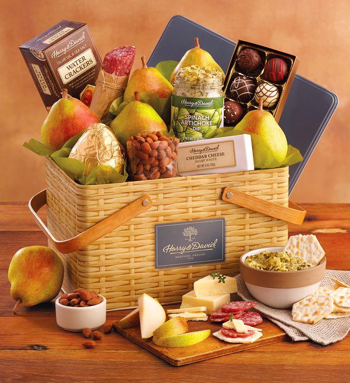 Harry And David Birthday Gift Baskets : Picnic basket gift tin baskets harry david