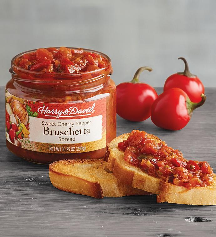 Sweet Cherry Pepper Bruschetta