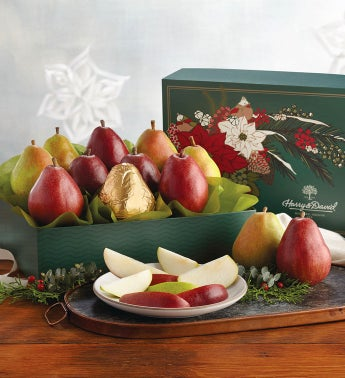 Red and Green Holiday Pears