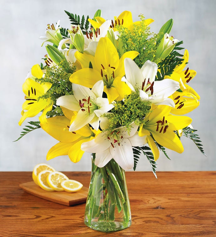 White and Yellow Lily Bouquet | Flowers Delivery | Harry & David