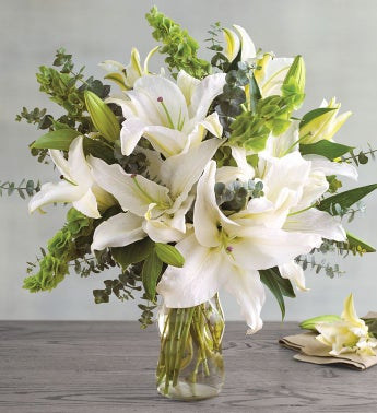White lily bouquet flowers delivery harry david white lily bouquet mightylinksfo