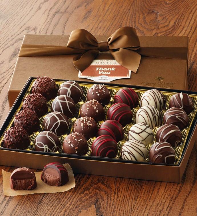 Thank you truffle gift box chocolate gifts harry david thank you truffle gift box negle Image collections