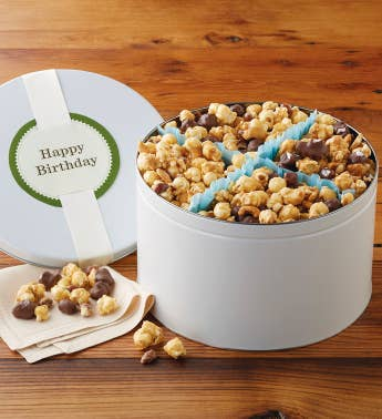 Birthday Moose Munch174 Premium Popcorn Tin