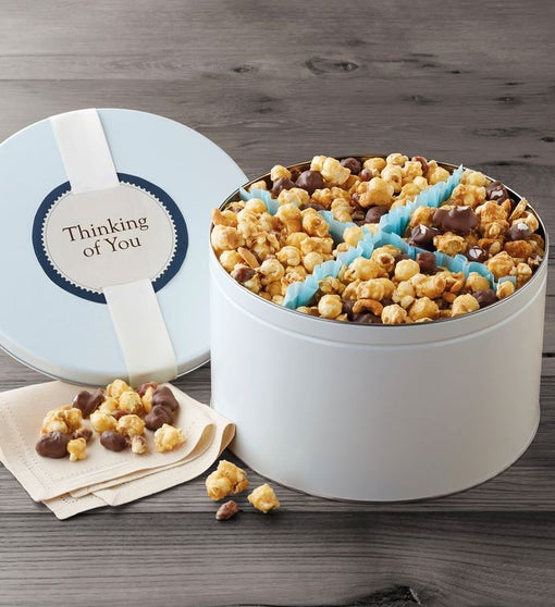 Moose Munch® Premium Popcorn Thinking of You Gift Tin