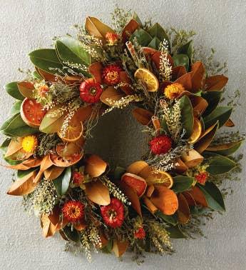 magnolia quince wreath