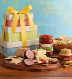 Savory Snacks Gift Tower
