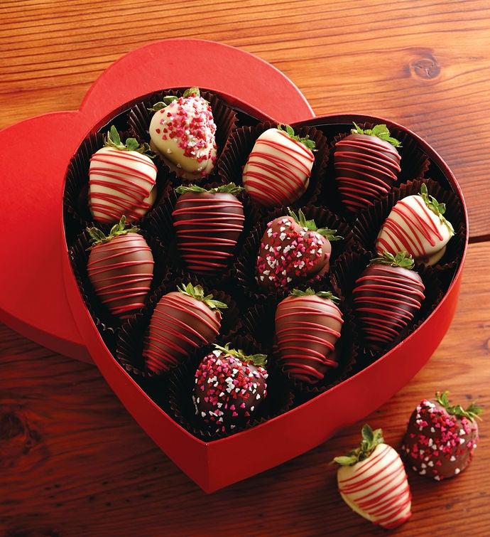 Valentineu0027s Day Chocolate Covered Strawberries Gift Box