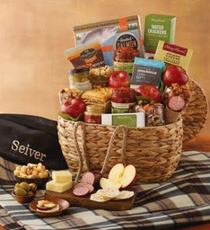Gourmet Picnic Basket with Personalized Blanket