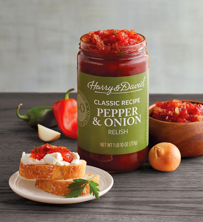 Pepper And Onion Relish 26 Ounce From Harry David