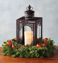 Evergreen Lantern Centerpiece